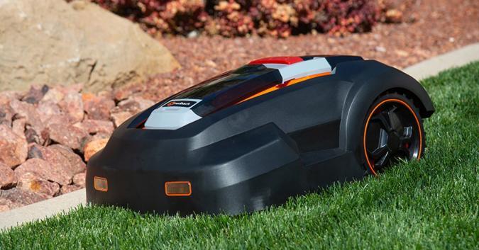 Press image of the MowRo robot lawn mower.