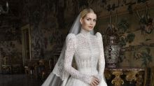 Lady Kitty Spencer, Princess Diana's model niece, wears Dolce & Gabbana to wed billionaire Michael Lewis, 62