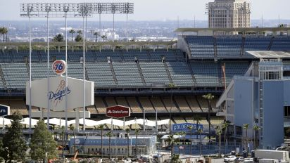 Dodger Stadium will serve as a voting site