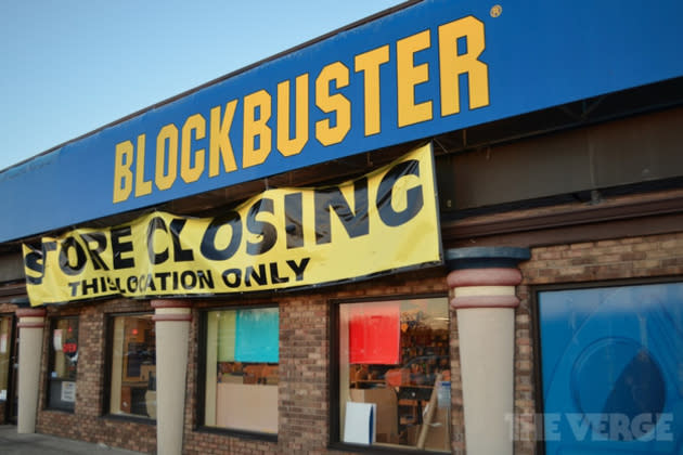 blockbuster exiting us retail market  closing its last 300