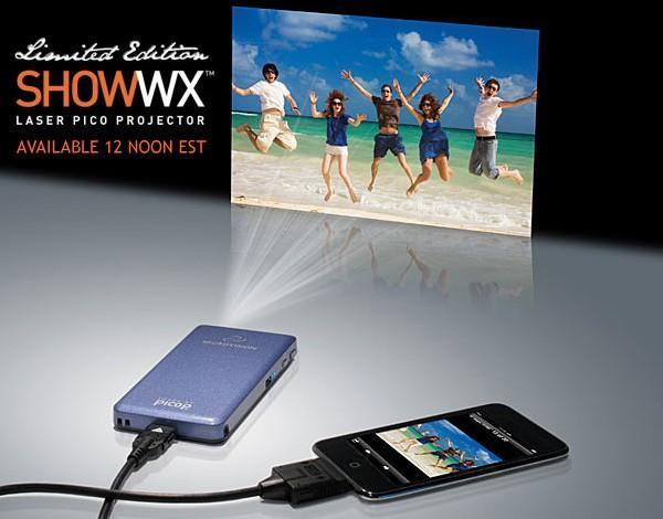Microvision's Show WX laser pico projector available to buy today, will ship March 24