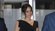 Meghan Markle pairs LBD with messy bun at Women's Empowerment reception