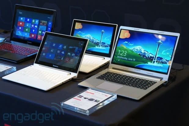 Lenovo refreshes its IdeaPad laptops with Haswell and touch, designs unchanged