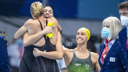 Australia claims Tokyo's first world record