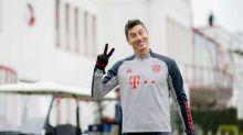 Lewandowski returns to Bayern Munich training