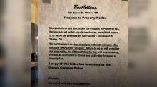 Ottawa Tim Hortons takes down sign asking customers to leave after 30 minutes
