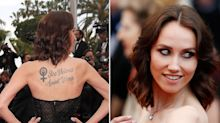 Why Everyone Is Talking About Sand Van Roy's Stunning Feminist Tattoo at Cannes