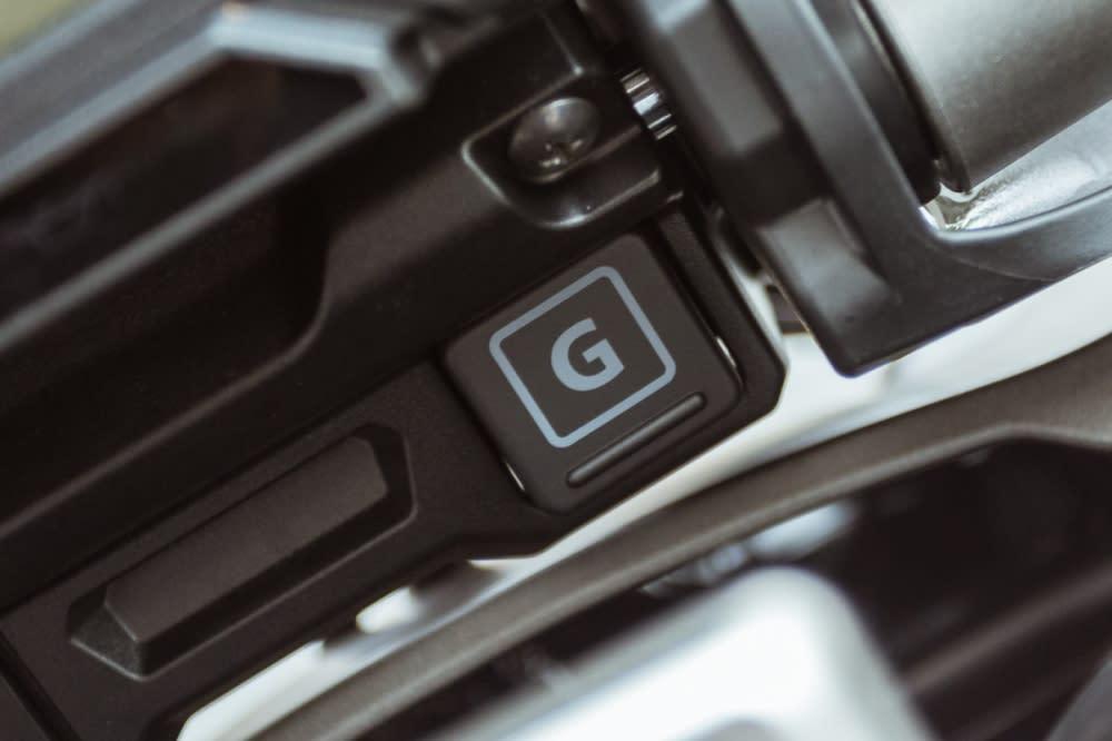 G Mode按鈕設在儀錶下方