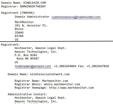 Amazon snatches up Kindle related domains, Kindle Air rumors start circulating