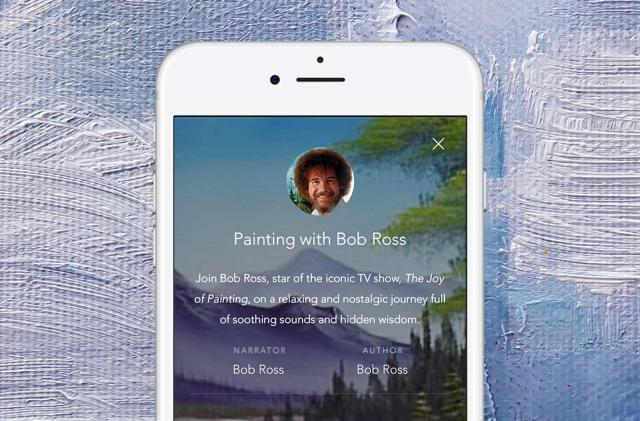 Bob Ross can mellow you out through a mobile app