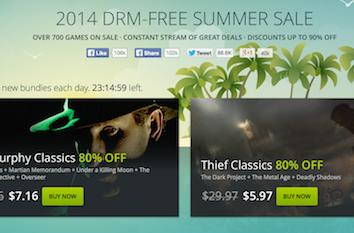 Good Old Games' summer sale offers daily, hourly reasons to stay inside