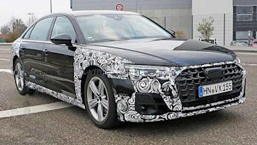 AUDI A8中期改款原型車路試間諜照流出,全新的車頭造型大有看頭