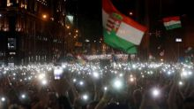 Tens of thousands of Hungarians protest against PM Orban's rule