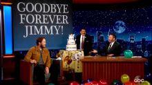 Chris Pratt throws a hilarious retirement party for Jimmy Kimmel