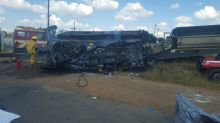 Minibus crash and fire in South Africa leaves 20 children dead