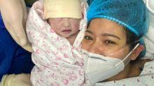 Assunta de Rossi welcomes miracle baby