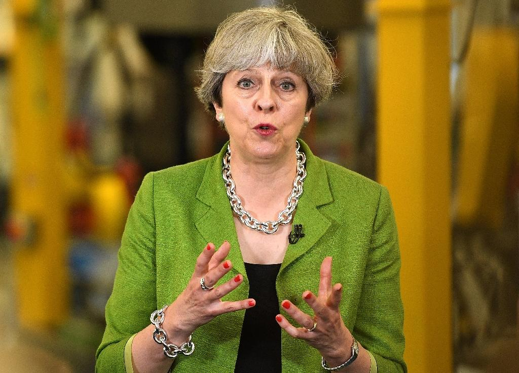 British Prime Minister Theresa May was hoping to secure a Conservative landslide in the snap election on June 8 (AFP Photo/Leon Neal)