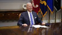 The Latest: AP poll: Americans back Biden's virus response