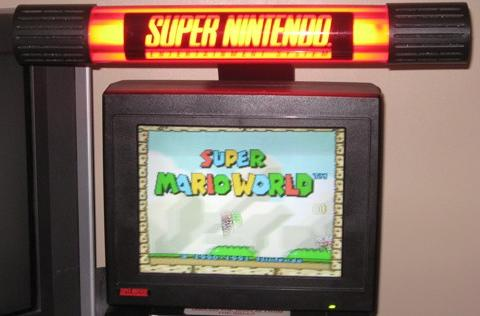 You can buy your own SNES retail display unit