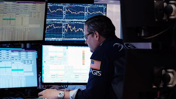 Stock futures pull back from record levels