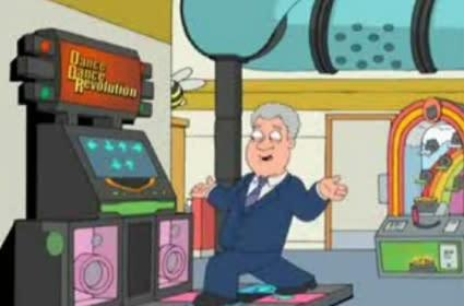 Today's most freakin' sweet video: Family Guy, Clinton and DDR