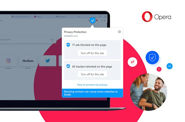 Opera's stricter privacy controls could also speed up your web browsing