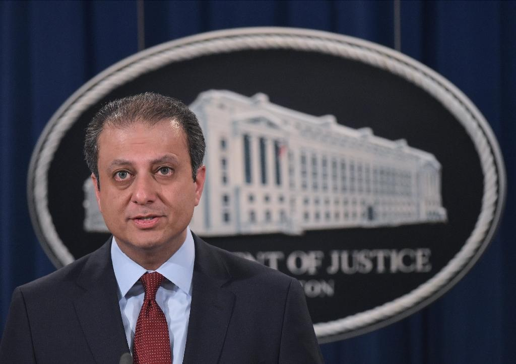 US Attorney of the Southern District of New York Preet Bharara speaks during a press conference at the Department of Justice on March 24, 2016 in Washington, DC (AFP Photo/Mandel Ngan)