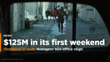 'Deadpool 2' ends Avengers' box-office reign, rakes in $125M