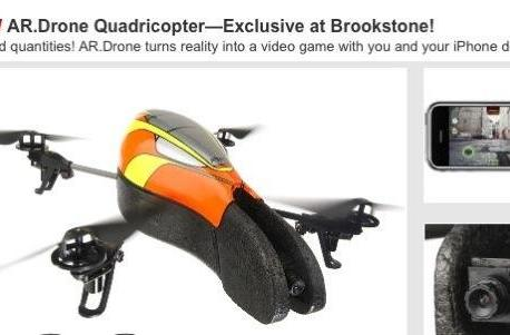 Parrot AR.Drone now available for pre-order at Brookstone