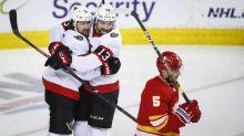 Batherson, Senators defeat Flames 4-3 in shootout