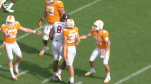 Tennessee kicker gets feisty after second-career made field goal