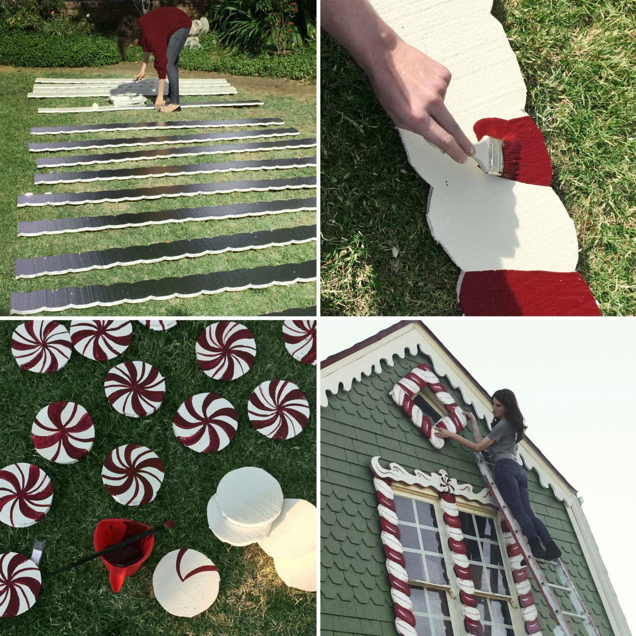 """<p>The painting of the candy canes and peppermint candies, on the other hand, was the fun part of the endeavor. (Photo:<a href=""""http://www.christinehmcconnell.com/"""" rel=""""nofollow noopener"""" target=""""_blank"""" data-ylk=""""slk:Christine McConnell"""" class=""""link rapid-noclick-resp""""> Christine McConnell</a>) <br></p>"""