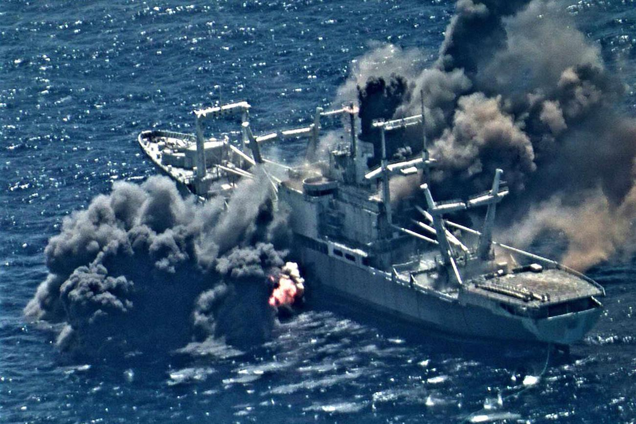 Decommissioned Navy Warship Blasted and Sunk in Pacific Exercise