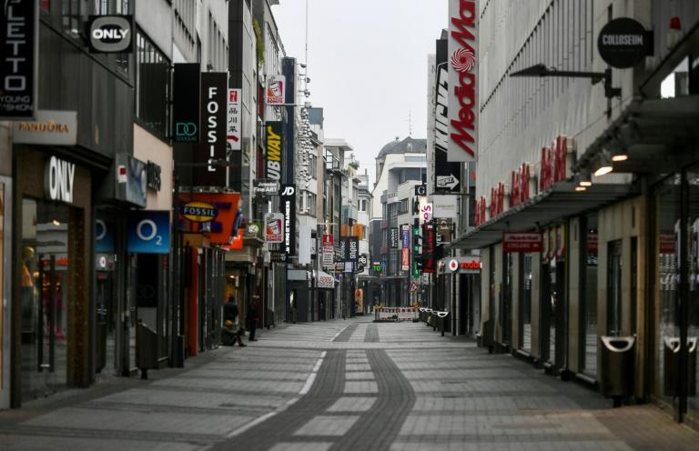 Residents of Dusseldorf seen shopping as Germany eases lockdown restrictions