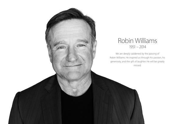 Apple posts tribute to Robin Williams