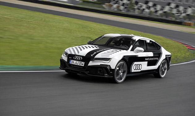 Audi's self-driving RS 7 hits the racetrack this weekend (video)