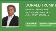 Escritor que havia desistido da vida política volta a se candidatar usando o nome de 'Donald Trump Bolsonaro'