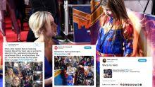 Mini 'Captain Marvel' stole the show at the film's European premiere