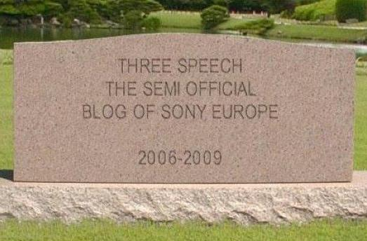 Thank the gawds: Three Speech is dead, replaced by EU PlayStation Blog