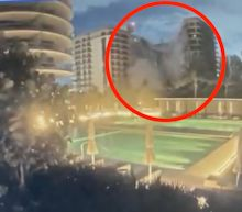 Video captures the moment a high-rise condo building partially collapsed in Surfside, Florida