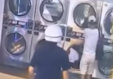 「警察在後面很火」慣竊洗衣店栽了