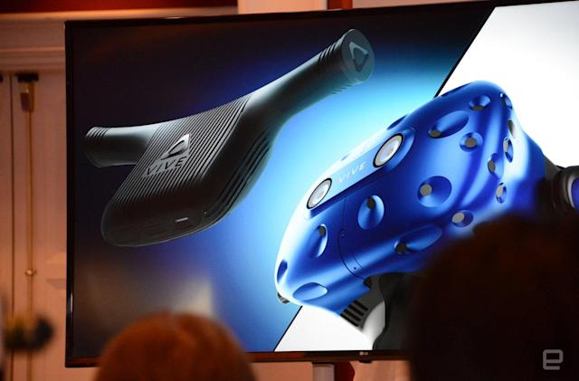 HTC unveils a wireless adapter for Vive VR headsets