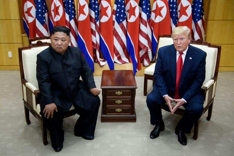 Donald Trump met North Korean leader Kim Jong Un at the Demilitarized Zone dividing North and South Korea