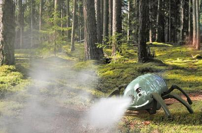 OLE pill bug robot concept could fight forest fires