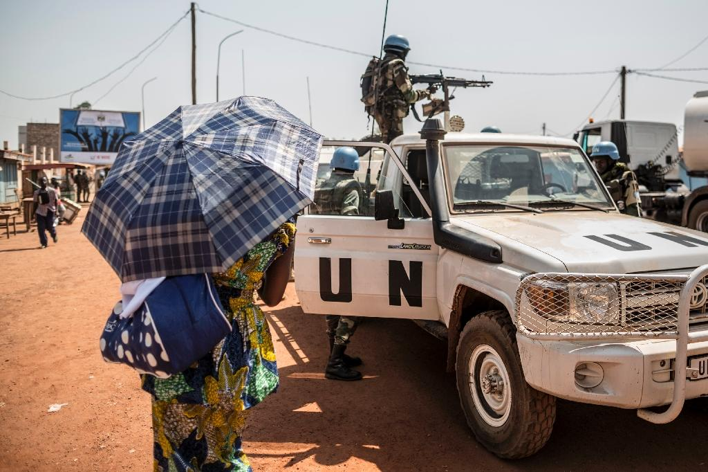 In September 2014, UN peacekeepers went in to Central African Republic to take over from the African Union's MISCA force (AFP Photo/MARCO LONGARI)