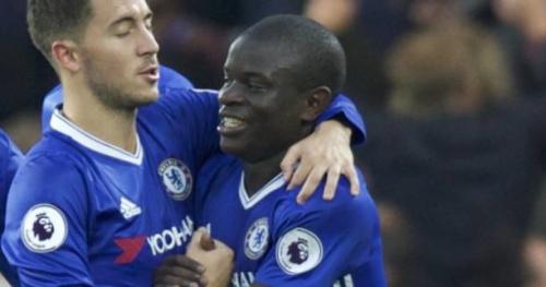 Foot - ANG - Chelsea - N'Golo Kanté vote Eden Hazard pour le titre de joueur de l'année en Angleterre