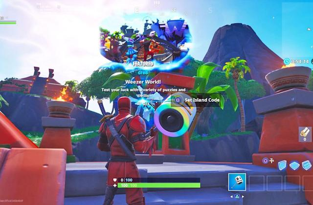 Weezer made an island in 'Fortnite' to promote its new album