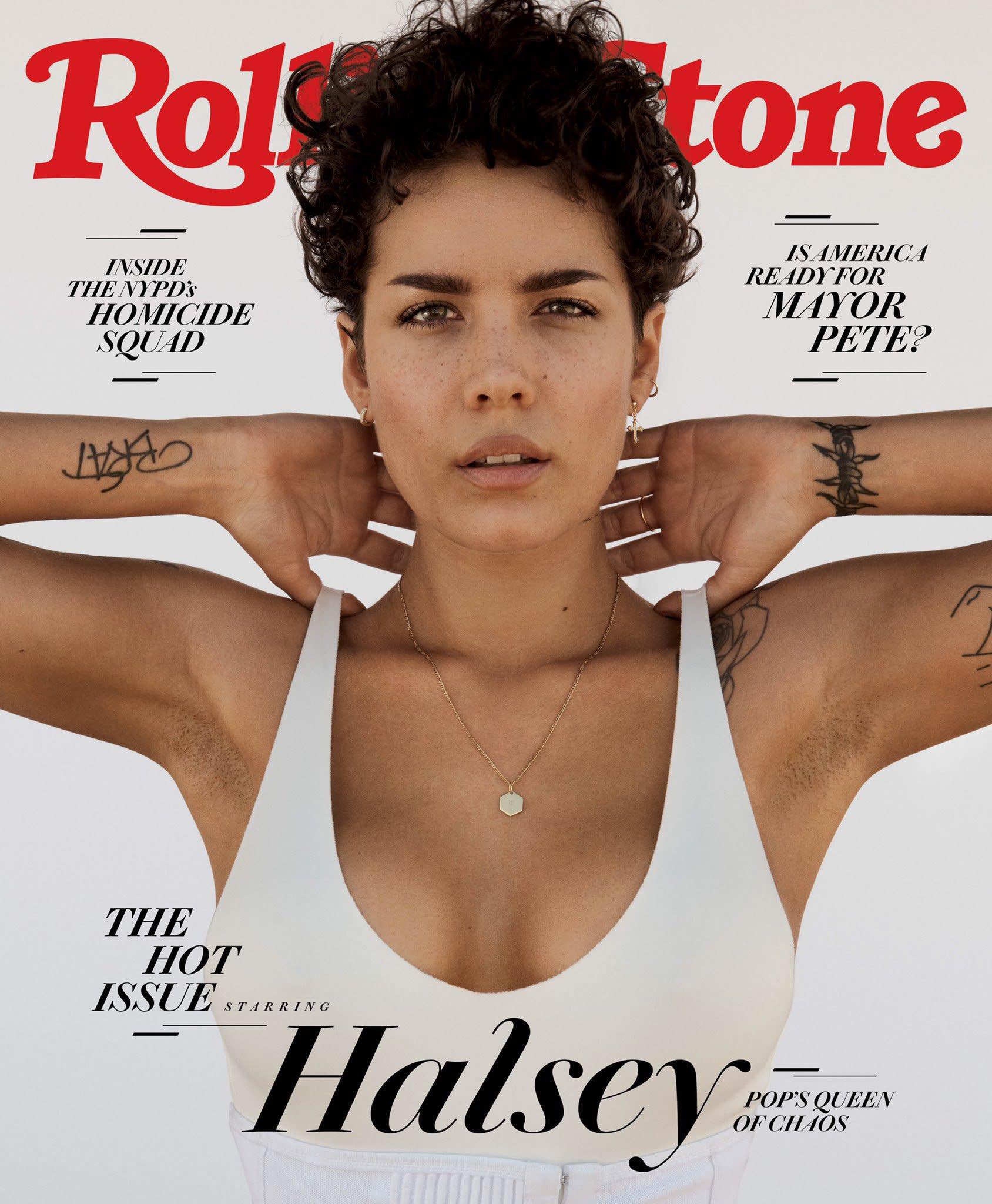 separation shoes 22034 c493e Demi Lovato Praises Halsey's Rolling Stone Cover as Singer Receives  Backlash for Unshaven Armpits