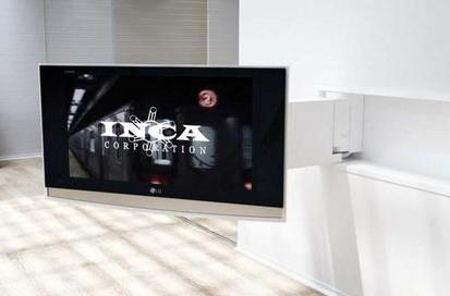 INCA offers up motorized pop-out TV mount