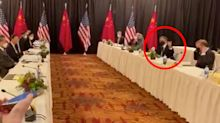 'Dramatic' moment in fiery meeting between US and China